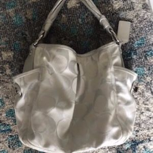 Silver Authentic Vintage Hobo Coach Handbag